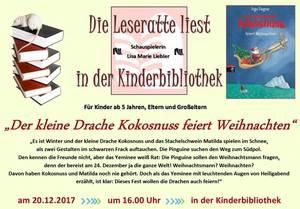 """Die Leseratte liest für Kinder """"Der kleine Drache Koskosnuss"""""""