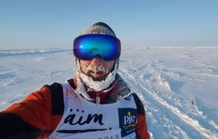Robby Clemens auf seinem Nordpolmarathon. [(c): Privat]
