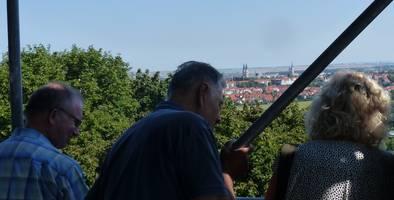 Ein wunderbarer Blick eröffnet sich den Besuchern von der Plattform des Bismarckturms. [(c): Stadt Halberstadt]