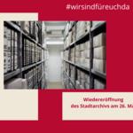 Öffnung des Stadtarchives [(c) Stadt Halberstadt, Neue Medien]