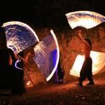 Feuer und Tanz vom Duo Feuerreigen - Foto: Peter Windhövel
