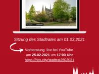 Sitzung des Stadtrates der Stadt Halberstadt  per Vidoekonferenz