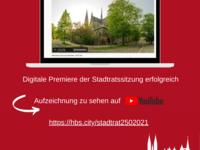 Digitale Premiere der Stadtratssitzung erfolgreich