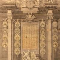 Domstiftskalender mit dem Verzeichnis der verstorbenen Domstiftsherren aus dem Jahr 1783