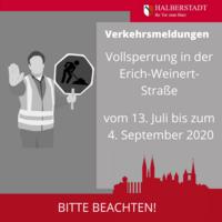 Vollsperrung in der Erich-Weinert-Str.