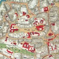 Ausschnitt aus dem großformatigen Stadtplan Halberstadts von 1933, ab sofort als Nachdruck zu erwerben