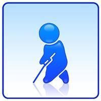 Gehbehinderte Menschen