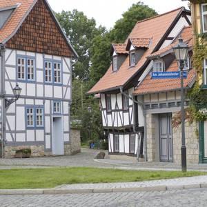 Fachwerkstraße in Halberstadt [(c): Mathias Kasuptke]