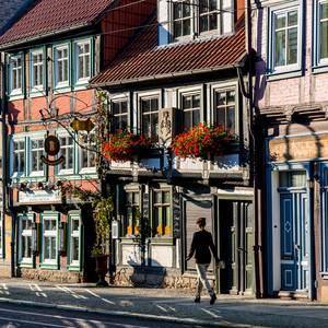 Fachwerkstraße in der Altstadt von Halberstadt [(c): U. Schrader]