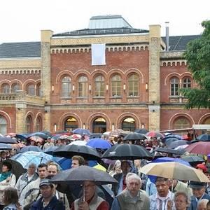 Die Bahnhofseröffnung am 15.08.2010