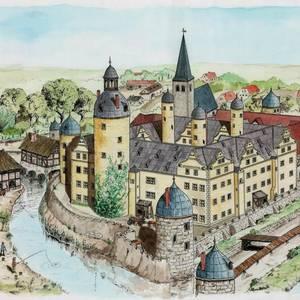 Das Gröninger Schloss um 1600