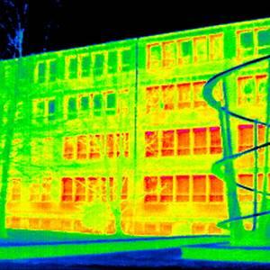Wärmebild der Spiegelschule