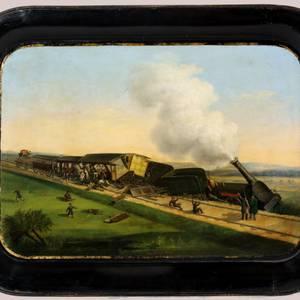 Eisenbahnunglück 1844, zu besichtigen im Städtischen Museum Halberstadt