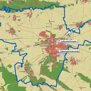 Karte Luftreinhalteplan