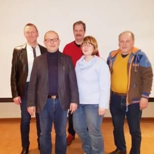 Foto von links nach rechts: Andreas Reuß, Henri Mechnik, Olaf Michaelis, Marion Heine, Bodo Ballast