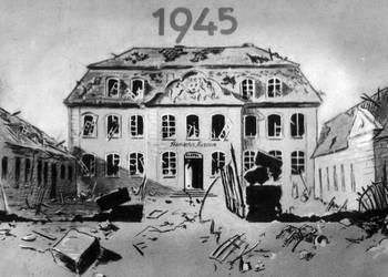 Städtisches Museum Halberstadt nach dem Bombenangriff am 8. April 1945 [(c) Städtisches Museum Halberstadt]