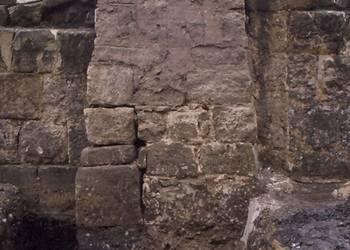 Archäologische Ausgrabung Stadtzentrum Rathauspfeiler altes Rathaus, jetzt in der Rathauspassage ausgestellt, 31. August 1996 [(c) Städtisches Museum Halberstadt]