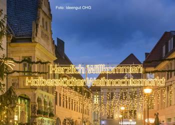 Halberstädter Weihnachtsmarkt, Blick zum Fischmarkt [(c): Halberstadt Information]