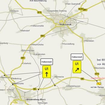 Umleitung Quedlinburg und Heimburg