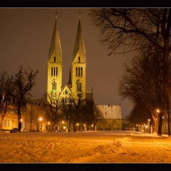Halberstadt, Dom und Domplatz im Winter - Karsten Hebbel