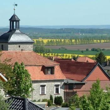 Ortsansicht von Aspenstedt, Ortsteil von Halberstadt