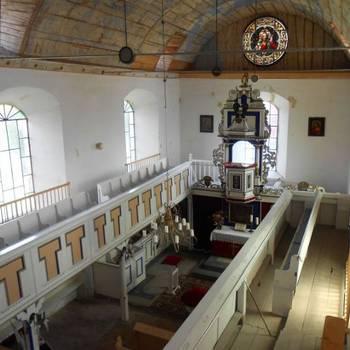 Urbanikirche in Aspenstedt - Innenansicht [(c) Evangelischer Kirchenkreis Halberstadt]