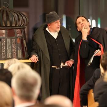 Hilariusmahl 2016 in Halberstadt - Faust und Mephisto erzählen die Hilariusgeschichte