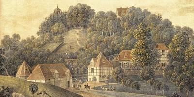 Landschaftspark Spiegelsberge - alte Postkarte