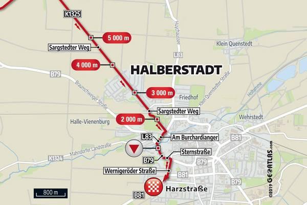 Streckenverlauf ©Gesellschaft zur Förderung des Radsports mbH