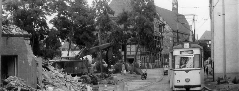 Abriss in der Dominikanerstraße, Dieter Janietz [(c) Städtisches Museum Halberstadt]