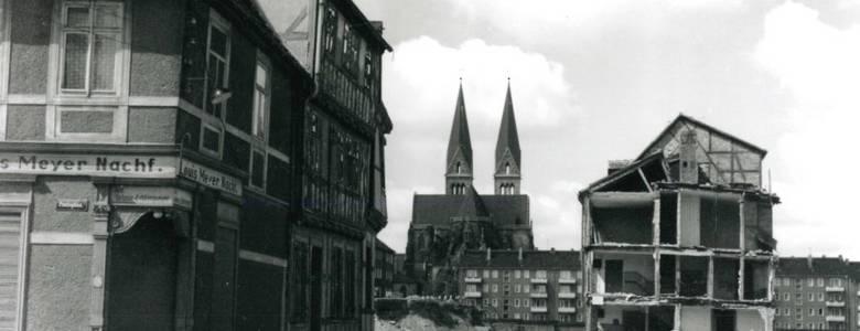 Paulsplan, Blick auf die Paulsstraße Abriss, 1970 [(c) Peter Köpke]