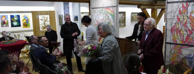 Eröffnung der Sonderausstellung im Schraube-Museum mit Hans-Georg und Birk Losert [(c) Stadt Halberstadt]