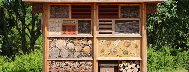 Insektenhaus [(c) Sabine Fenner- Pixabay]