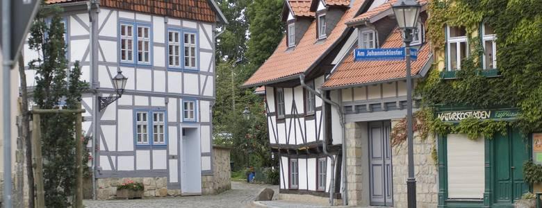 Fachwerkstraße in Halberstadt [(c) Mathias Kasuptke]