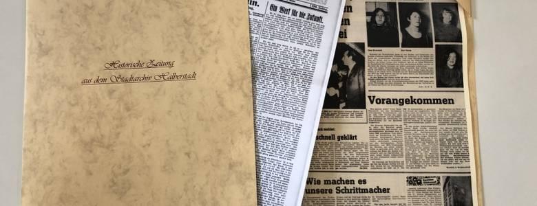 Zeitungsmappe [(c) Städtisches Museum Halberstadt]