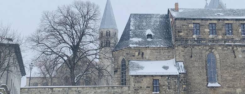Stadtbibliothek im Winter [(c) Stadt Halberstadt, Öffentlichkeitsarbeit]