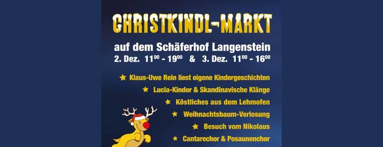 """Christkindlmarkt Schäferhof Langenstein """"God Jul!"""" [(c) Merino Team, Langenstein]"""