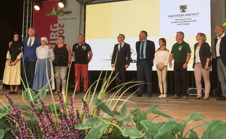 """Ströbeck erhielt Silber beim 10. Landeswettbewerb """"Unser Dorf hat Zukunft"""" – Langenstein wurde gewürdigt [(c) Stadt Halberstadt, Pressestelle]"""