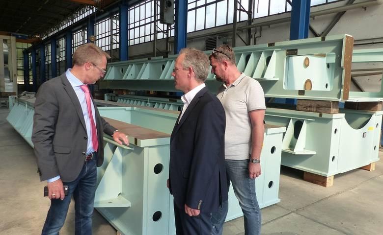 OB Henke besucht Stahl- und Metallbau Harz GmbH [(c) Stadt Halberstadt, Pressestelle]