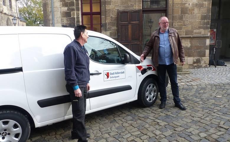 Stadtverwaltung: Erstes Elektroauto im Einsatz [(c) Stadt Halberstadt/Pressestelle]