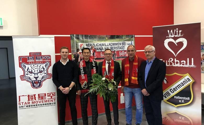 VfB Germania schließt strategische Kooperation mit chinesischem Sport-vermarkter Star Movement [(c) VfB Germania/Halberstadt]