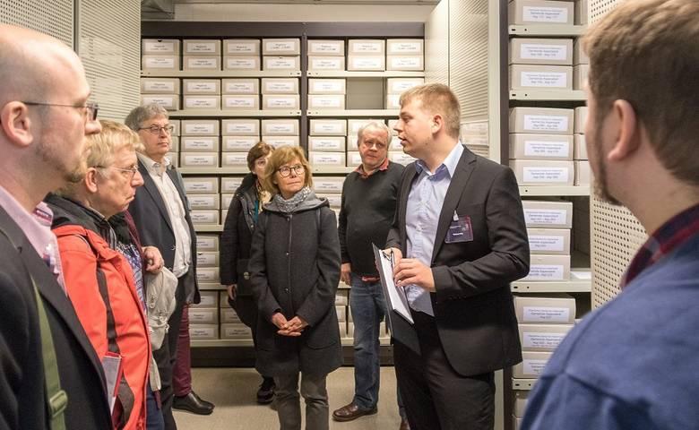 OB Henke begrüßte mehr als 100 Fachbesucher zum Landesarchivtag in Halberstadt [(c) Sven Hertel]