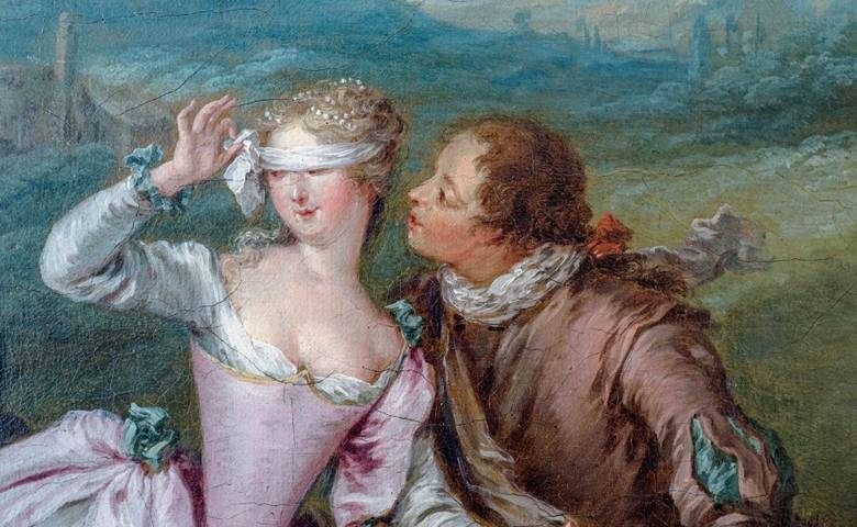 Jean-Baptiste Pater: Blindekuh, um 1730, Ausschnitt, Röbbig München [(c) Foto: Luigi Caputo]