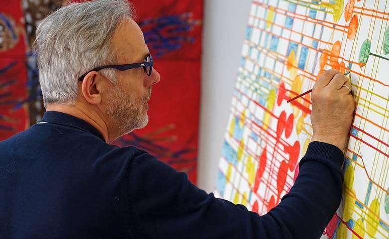Auf Zeitreise mit Maler und Autor Karl Anton [(c) Fotografie Freydank]