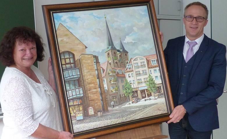 Gemälde von Waldemar Plaisant für die Stadt Halberstadt [(c) Stadt Halberstadt/Pressestelle]