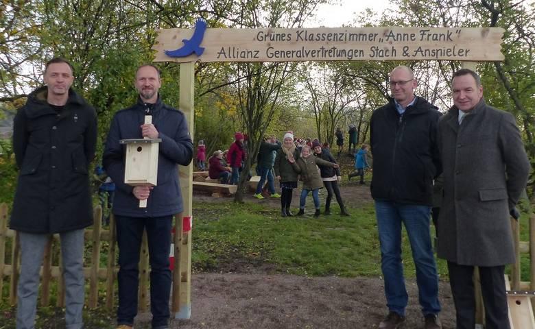 """Grundschule Anne Frank hat ein neues """"Grünes Klassenzimmer"""" [(c) Stadt Halberstadt/Pressestelle]"""