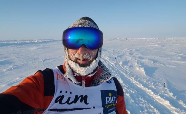 Robby Clemens auf seinem Nordpolmarathon. [(c) Privat]