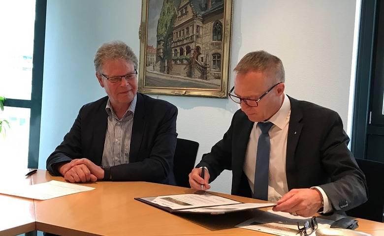Kooperationsvereinbarung für Künstlerwohnungen unterzeichnet [(c) Stadt Halberstadt/Pressestelle]