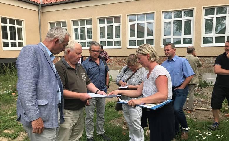 Diesterwegschule – 70 % der Arbeiten fertig gestellt [(c) Stadt Halberstadt/Pressestelle]