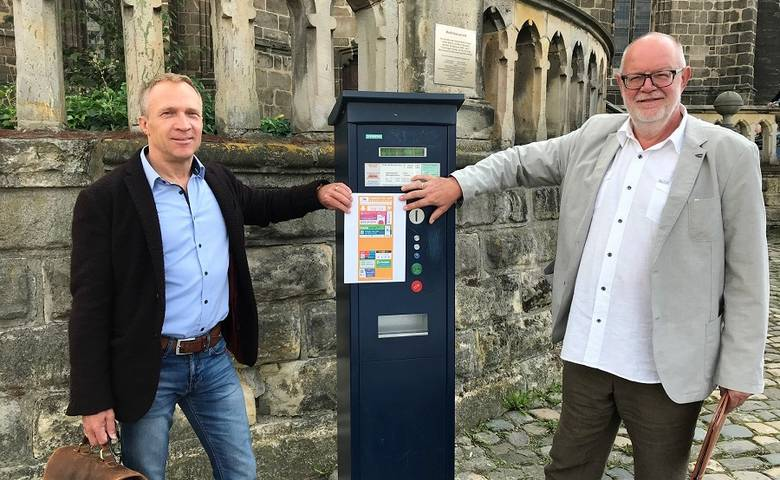 Neu in Halberstadt: Parkgebühren digital mit dem Handy zahlen [(c) Stadt Halberstadt/Pressestelle]